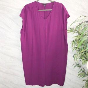 Eileen Fisher Silk Tunic Dress Medium